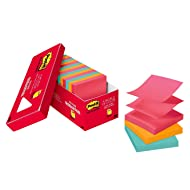 Post-it Pop-up Notes, Pink, Green, Blue, Orange, Accordion-style Sticky Notes for Dispensers, Call out Important Information, 3 in. x 3 in, 18 Pads/Pack, (R330-18CTCP)