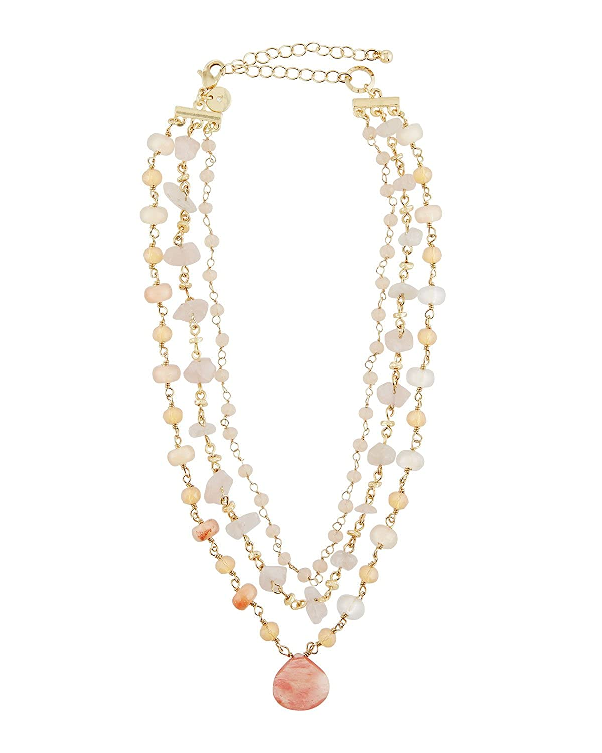 Lydell NYC Delicate Triple-Row Beaded Choker Necklace