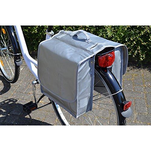 Filmer Fahrrad-Doppeltasche aus Tarpaulin, Silber, 33 x 25 x 12 cm, 20 Liter, 46364