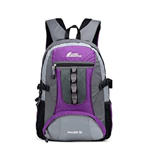 LIIREN Outdoor Fashion Camping Bag Nylon Cycling Hiking Daypacks Purple