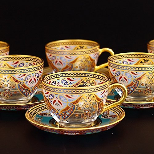 Ethnic Turkish Coffee Mug Set - Arabic Tea Glasses Sets- Arabic coffee Mugs-Ethnic designed Nescafe cups. by Fairturk (Image #1)