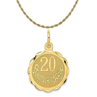 14K Happy 20th Anniversary Charm