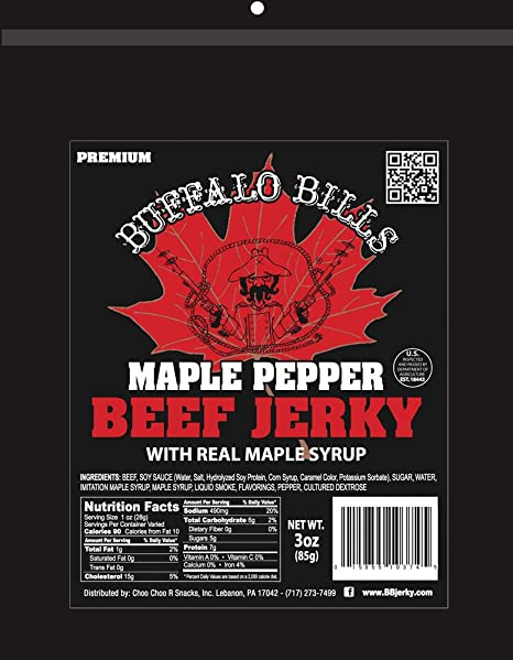 Amazon.com : Buffalo Bills Premium 3oz Jerky Sampler 4-Pack (4 assorted packs of beef jerky & turkey bacon jerky) : Grocery & Gourmet Food