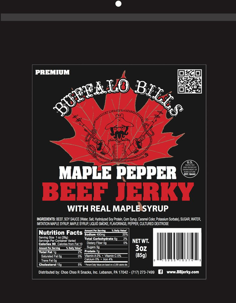 Buffalo Bills Premium 3oz Jerky Sampler 4-Pack (4 assorted packs of beef jerky & turkey bacon jerky) by Buffalo Bills (Image #4)