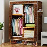 GL&G Wardrobe Closet Portable Waterproof Oxford cloth Free Standing Storage Organizer – Portable, Detachable, and Lightweight Solid wood sticks Clothing Closet Home decoration,E,39''63''