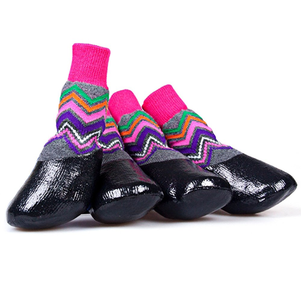 okdeals Anti-Slip Dog Socks Traction Control for Indoor Wear, Waterproof Pet Grip Socks Anti-Slip Pet Paw Protection(#3)