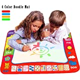 """Ehdching Aqua Magic Water Doodle Mat 4 Color Boys Water Magic Drawing Board Kids Educational Toy with 2 Magic Drawing Pens for Girls Toddlers Kids Children 31.5"""" x 23.6"""