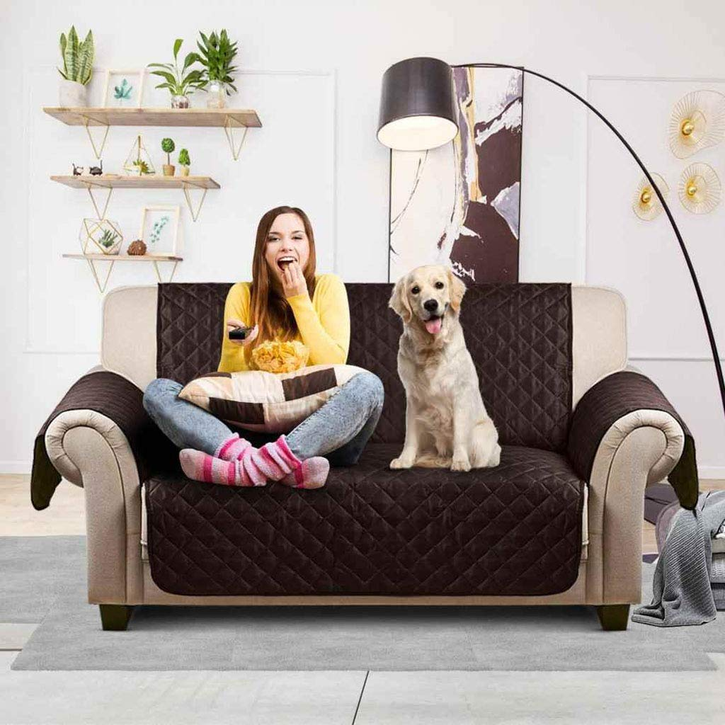 C Chair 53x183cm(21x72inch) C Chair 53x183cm(21x72inch) TT&CC Pet Dog Sofa Covers,Reversible Quilted Furniture Predector Plaid Solid color Non-slip Water-repellent Sofa Predector Slipcovers-C Chair 53x183cm(21x72inch)