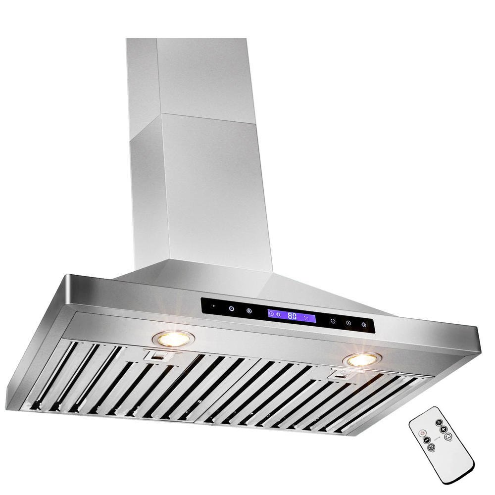 GOLDEN VANTAGE 30'' Wall Mount Stainless Steel Range Hood With Remote GVW30-B02 by Golden Vantage