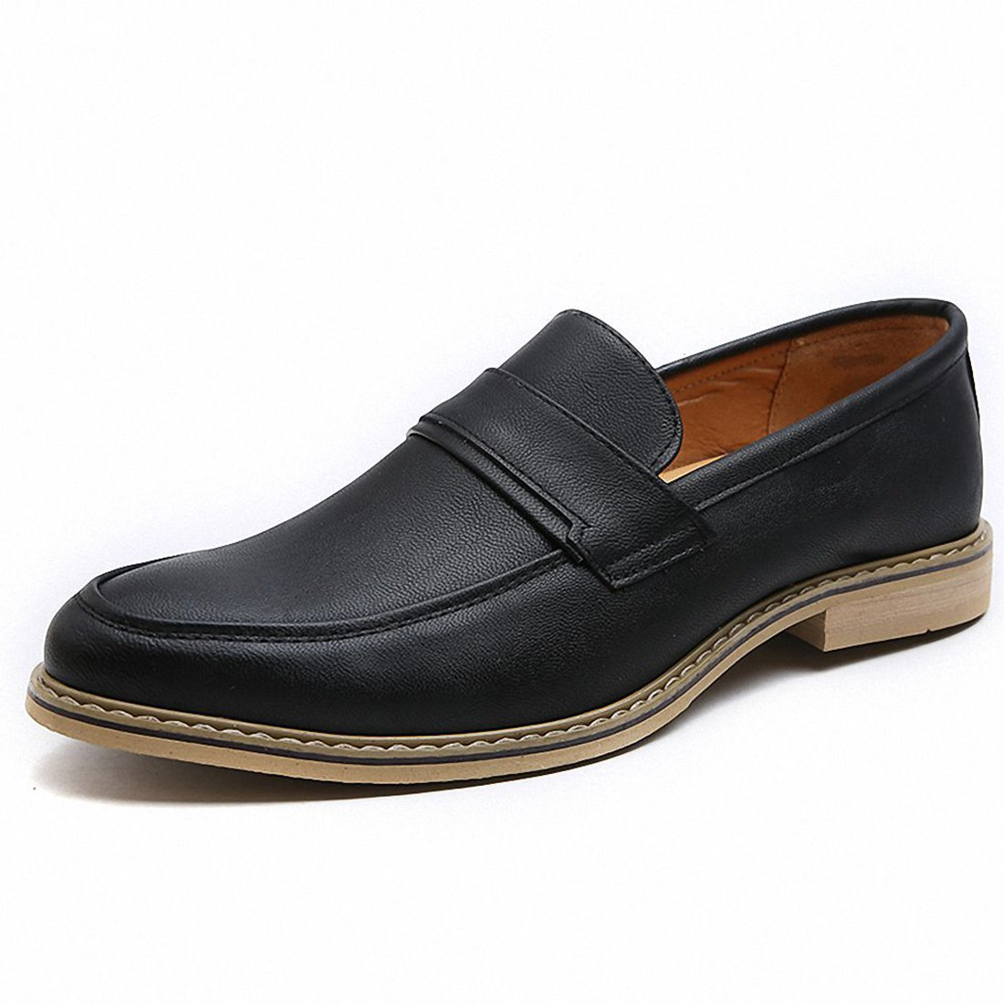 Men's Classic Leather Penny Loafer Business Driving Slip On Dress Shoes