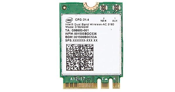 Amazon.com: Intel Dual Band Wireless-AC 3160 3160 NGW 802.11 ...
