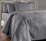 quilt set queen grey - Brielle Stream Quilt and Sham Set, Full/Queen, Light Grey