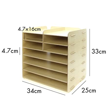 Amazon.com : Menu Life Decorative Wooden File Cabinet Document Magazine Folder Holder A4 A5 Size Literature Sorter, Letter Tray 8 Slots (White) : Office ...