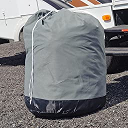 Budge Truck Camper Covers Fits Truck Camper RVs 10\' to 12\' Long (Gray, Polyproplyene)