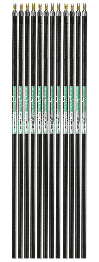 Carbon Express X-Jammer-27 Pro, Diamond Weave Carbon Indoor 20-Yard Spot Target Arrow Shaft, 12-Pack