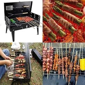 Barbacoa barbacoa Grill carbón de portátil plegable Camping jardín Picnic al aire libre Viajes