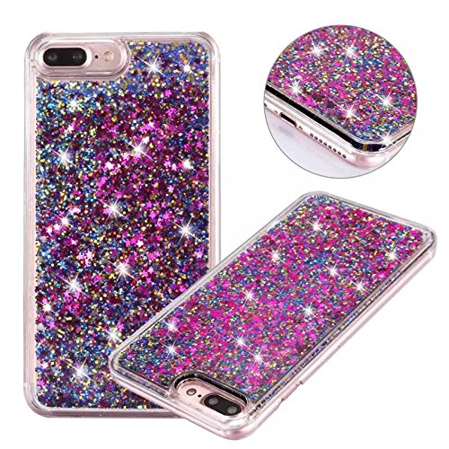 iPhone-7-Plus-Glitter-Case-NOKEA-hard-Rubber-Flowing-Liquid-Floating-Luxury-Bling-Glitter-Sparkle-Flexible-Protective-Shell-Bumper-Case-Cover-for-iPhone-7-Plus-55inch-Purple4