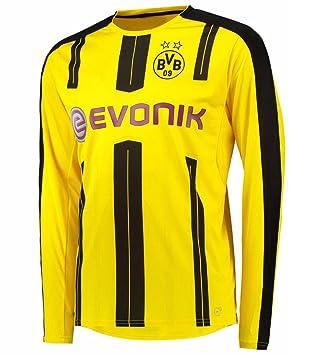 2016 2017 Borussia Dortmund camiseta de Diy nombre y número de fútbol de manga larga fútbol