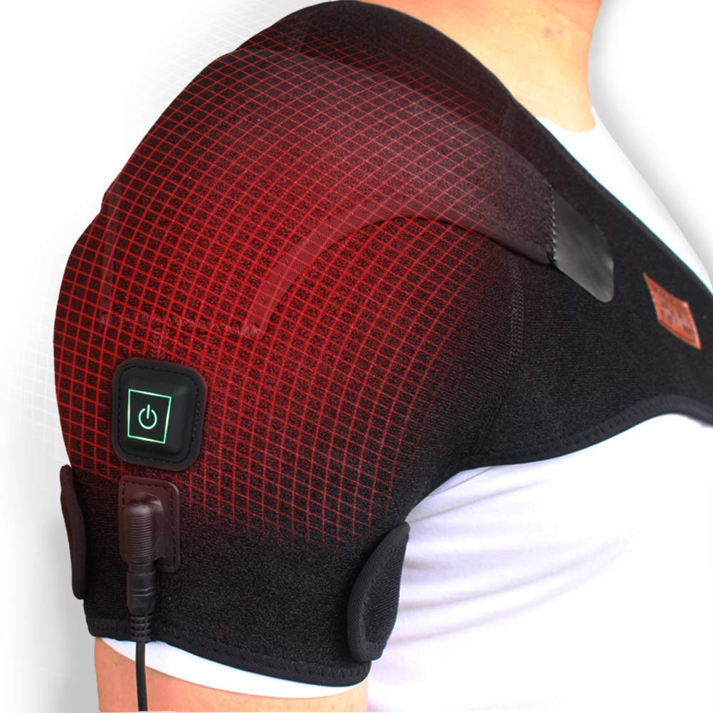 CREATRILL Heated Shoulder Wrap, 3 Heat Settings, Heating Pad Support Brace for Rotator Cuff, Joint Capsule & Biceps Tendon Injury, Frozen Shoulder, Shoulder Dislocation or Muscles Pain Relief by CREATRILL