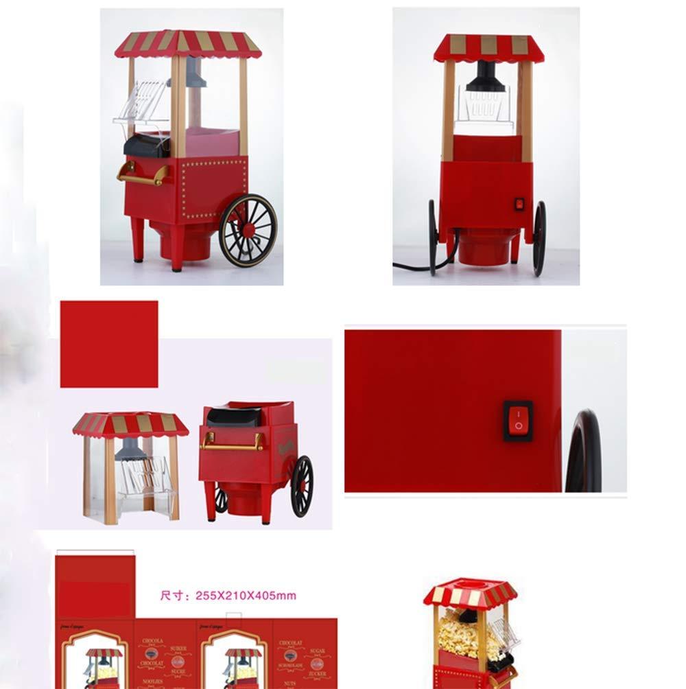 Mini Casa Palomitas Máquina Retro Palomitas Máquina Fabricante 220 Vatios (Rojo) Máquina De Palomitas De Maíz Horno Microondas: Amazon.es: Hogar