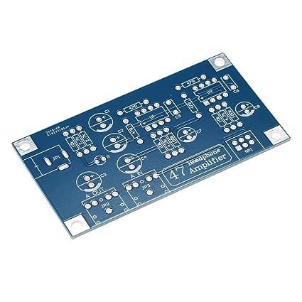 KKmoon 47 HIFI NE5532 Headphone Amplifier DIY PCB AMP Kit With Transparent  Case Single Power Supply DC12~18V