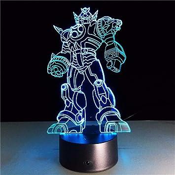Dtcrzjxh Nuevo Cool Anime Transformation Lámpara 3D Juguetes Para ...