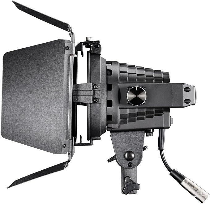 Walimex Pro Led Spotlight Mit Abschirmklappen Studioleuchte Dimmbar Daylight 5600 Kelvin Metallgehäuse