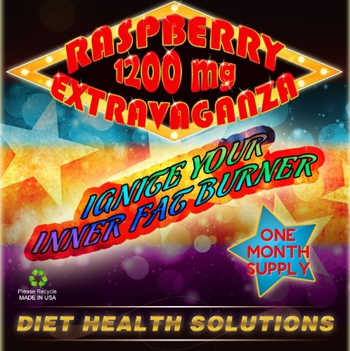 RASPBERRY EXTRAVAGANZA! 1200mg ~ Raspberry Ketone ~ African Mango Extract ~ Acai Fruit ~ Green Tea Extract ~ Resveratrol ~ Caffeine Anhydrous ~ Kelp ~ Most Powerful Weight Loss Supplement