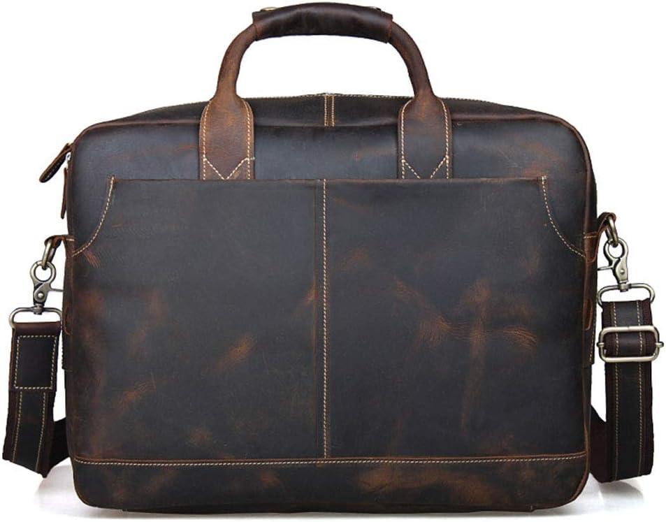 Mens Briefcase Mens Leather Laptop Bag 16.4 Inch Multifuntional Business Computer Laptop CaseSatchel Tablet Bussiness Carrying Handbag for Women and Men Briefcases Shoulder Business Office Bag
