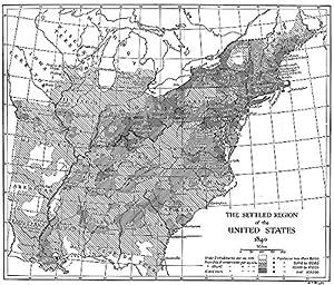 Amazoncom USA Northern States Settled Region Of US - Us 1820 map