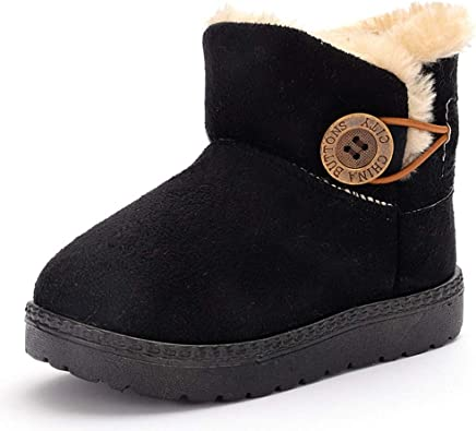 Baby Kids Artificial Leather Winter Warm Ankle Boot Snow Boots Shoes Booties