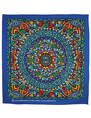 Wall Dye Tie Shirt - Sunshine Joy Grateful Dead Terrapin Dance Bandana