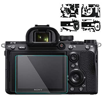 Camera Screen Protector for Sony A7III A7RIII with Camera Body Skin Anti-Scratch Sticker Carbon Fiber Camera Skin Protective Sticker Anti-Scratch//HD Clear Tempered Glass Screen Protector