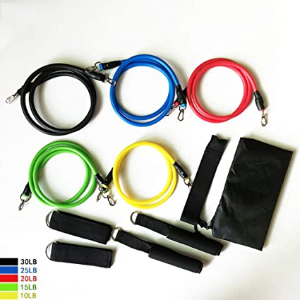 Exercise Resistance Bands Set 5pcs Strength Training Fitness Tubes Tension Bands
