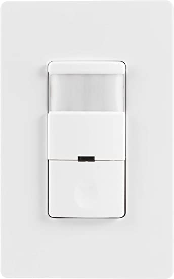 GE UltraPro in-Wall Motion Sensing Switch with Occupancy and Vacancy Options, Single Pole