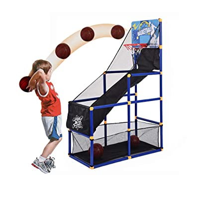 Basketball Arcade Game,Basketball Hoop Game Kids Indoor Outdoor Sports Toys with Mini Hoop, Ball and Pump for Boy Gift,Sports Shooting System (A): Sports & Outdoors