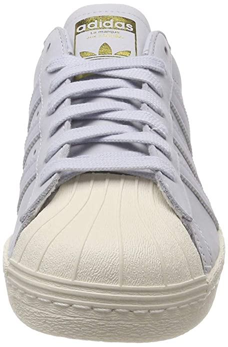 Amazon.com | adidas Womens Superstar 80s Low-Top Sneakers Aero Blue/Off White 0, 7.5 UK 7.5 UK | Fashion Sneakers