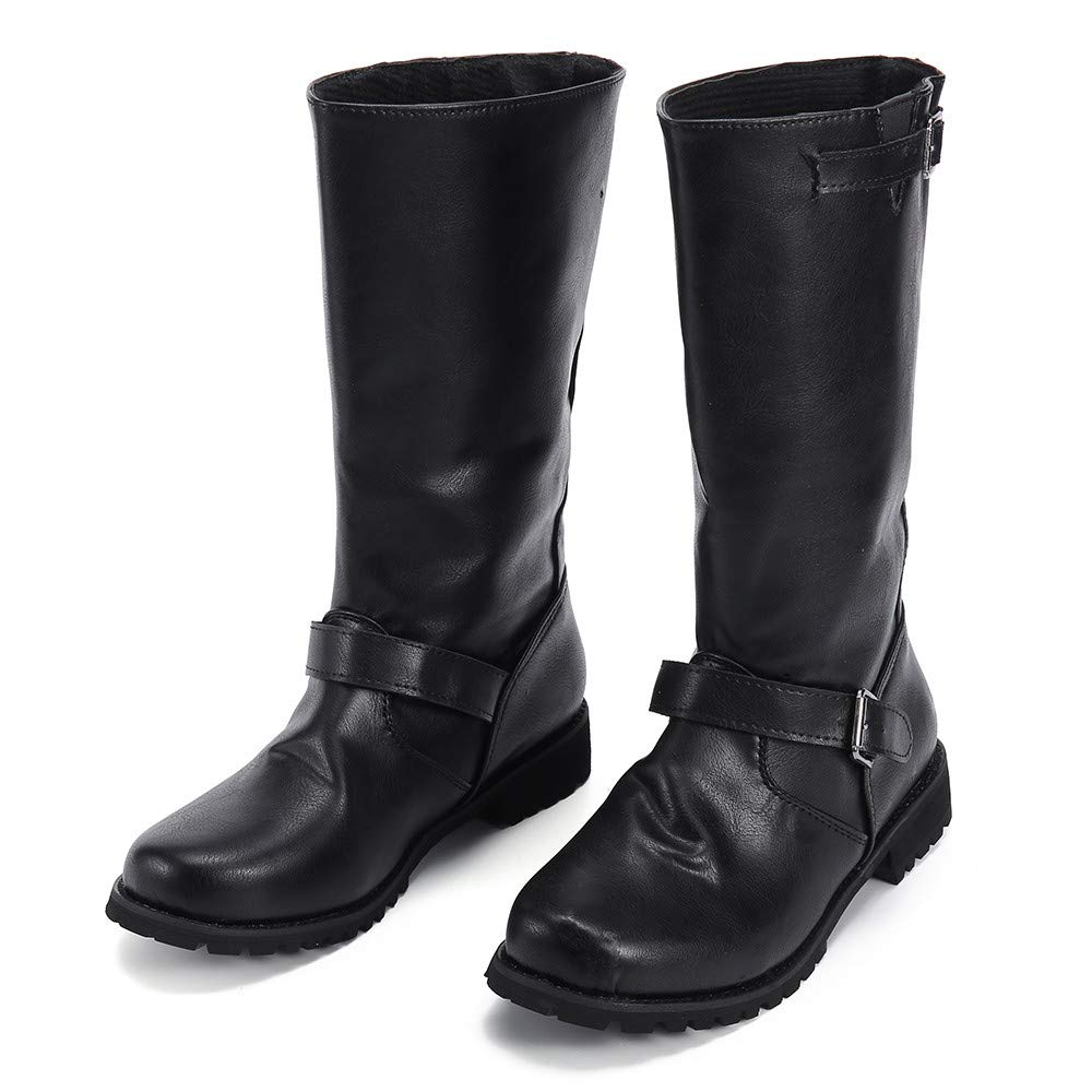 Women Boots Foncircle Winter Motorcycle Boot Fashion Classic Women Martin Boots
