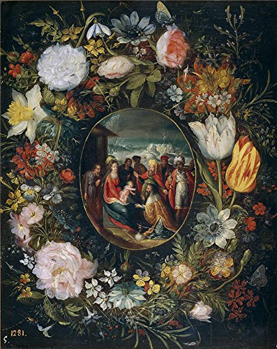 Rey Costume Reference (The Perfect Effect Canvas Of Oil Painting 'Brueghel El Joven Pieter Guirnalda Con La Adoracion De Los Reyes Magos ' ,size: 24 X 30 Inch / 61 X 77 Cm ,this Imitations Art DecorativePrints On Canvas Is Fit For Bedroom Decoration And Home Gallery Art And Gifts)