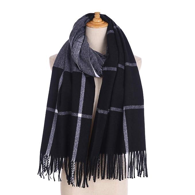 78d7e299d3571 EDINSY Super Soft Women's Pashmina Blanket Scarf Shawl Wrap Cashmere Feel  Scarves Black