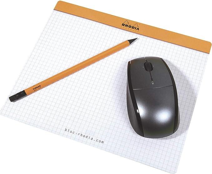 Rhodia Clic Block Mousepad Schreibblock 190 X 230 Surfin 30 Blatt Papier 80 G M Abnehmbarer 5x5 C Rhodia Bürobedarf Schreibwaren
