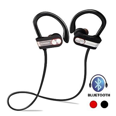 Bluetooth auriculares, original ALANGDUO G7 inalámbrico auriculares negro ligero entrenamiento para iPhone, Samsung,