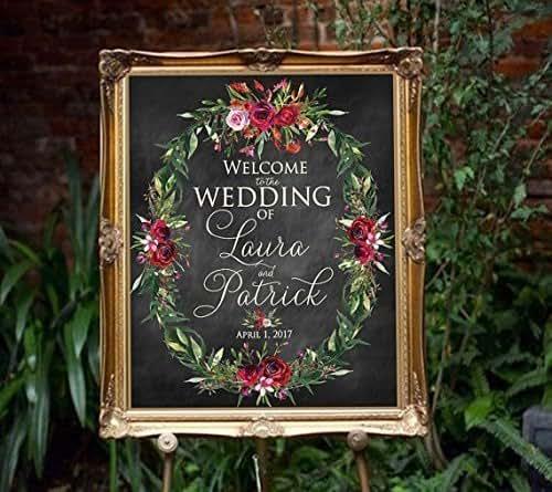 Amazon.com: Large Wedding Welcome Signs, Wedding Sign