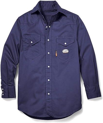 Rasco nr755 Camisa de Trabajo Resistente al Fuego: Amazon.es: Ropa y accesorios