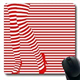 Tobesonne Mousepads Oblong Shape 7.9 x 9.5 Inches Art Santa Sexy Legs Shopping