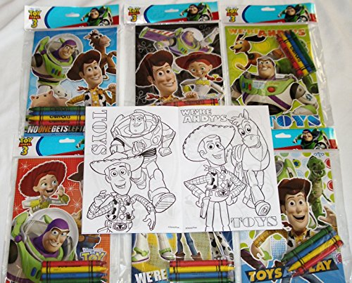 12 Sets of Disney Pixar Toy Story Coloring Books and Crayon Set Children Party Favors Bag Filler