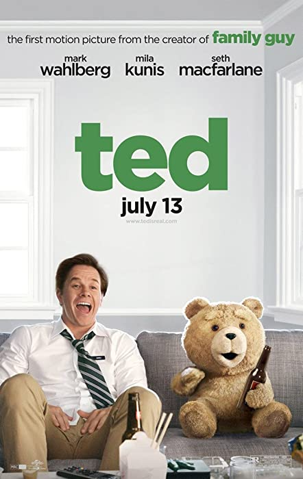 TED MOVIE POSTER 2 Sided ORIGINAL COUCH 27x40 SETH MCFARLINE MARK WAHLBERG