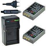 Chili Power PS-bls50bls5, PS, de bls-5, BLS-50Kit: 2x Batterie + Chargeur pour Olympus OM-D E-M10, Pen E-PL2, E-PL5, électronique, E-PL6, e-pl7, E-PM2, Stylus 1