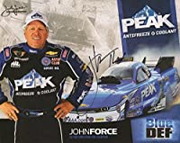 JOHN FORCE HAND SIGNED 8x10 COLOR PHOTO+COA LEGENDARY NHRA DRIVER - Autographed Extreme Sports Photos from Sports Memorabilia