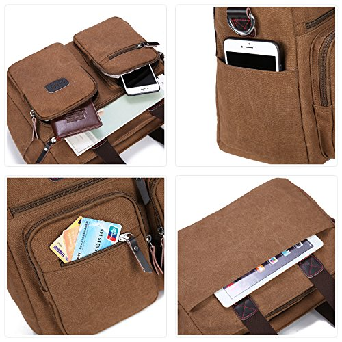 Work Satchel Handle Tolfe Travel Tote Shoulder brown Crossbody Handbags Messenger New Bag Purse Women Top rtqwE7t